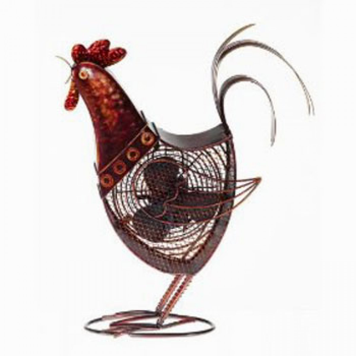 Decorative Rooster Figurine Table Fan Home Accents